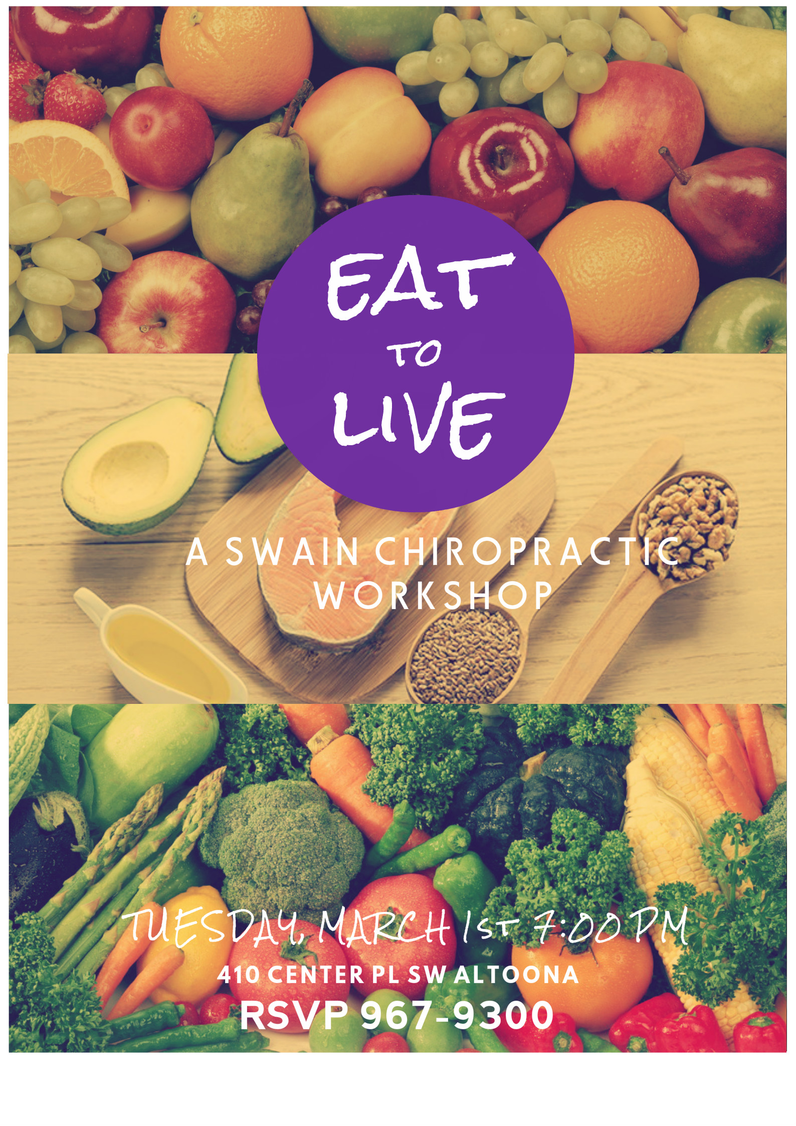 Eat to Live Class Flier